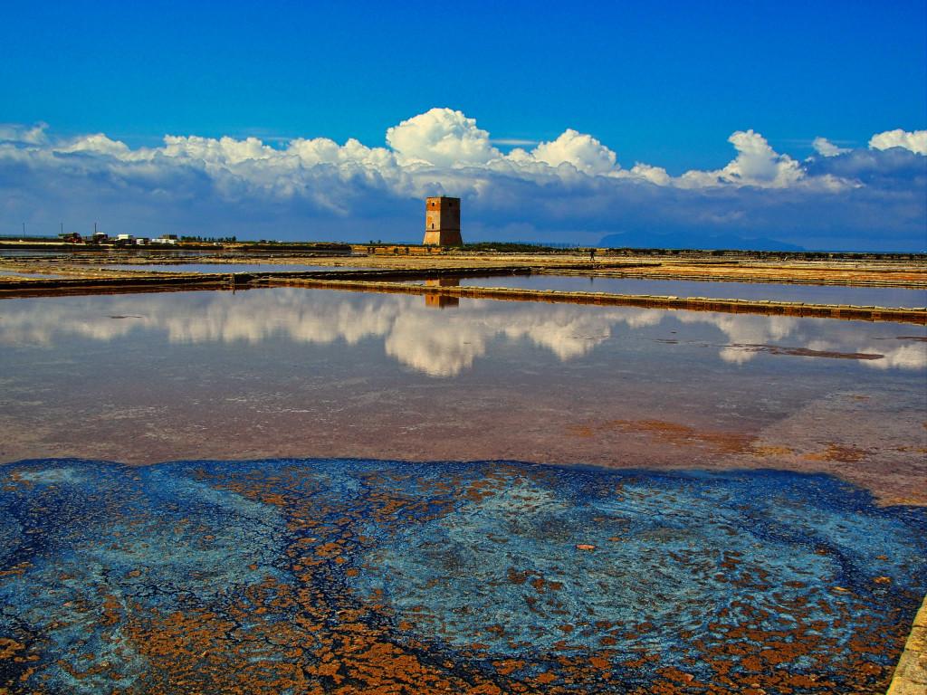 Salzfelder der Saline di Trapani