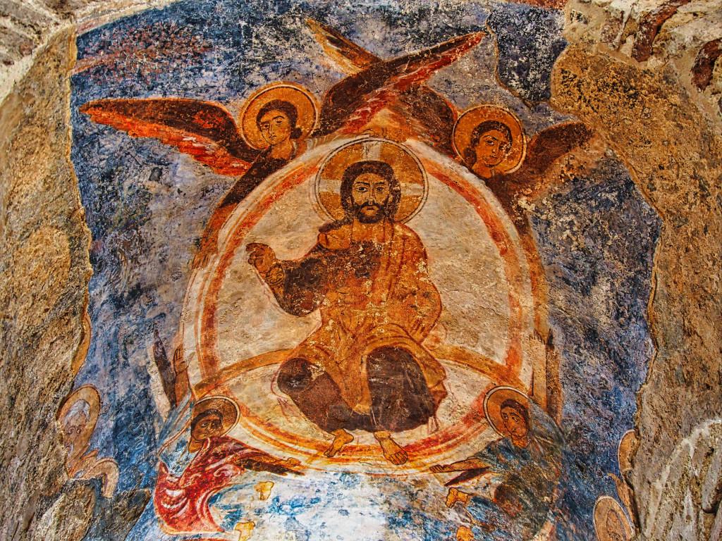 Freske in einer Kuppel der Cattolica di Stilo