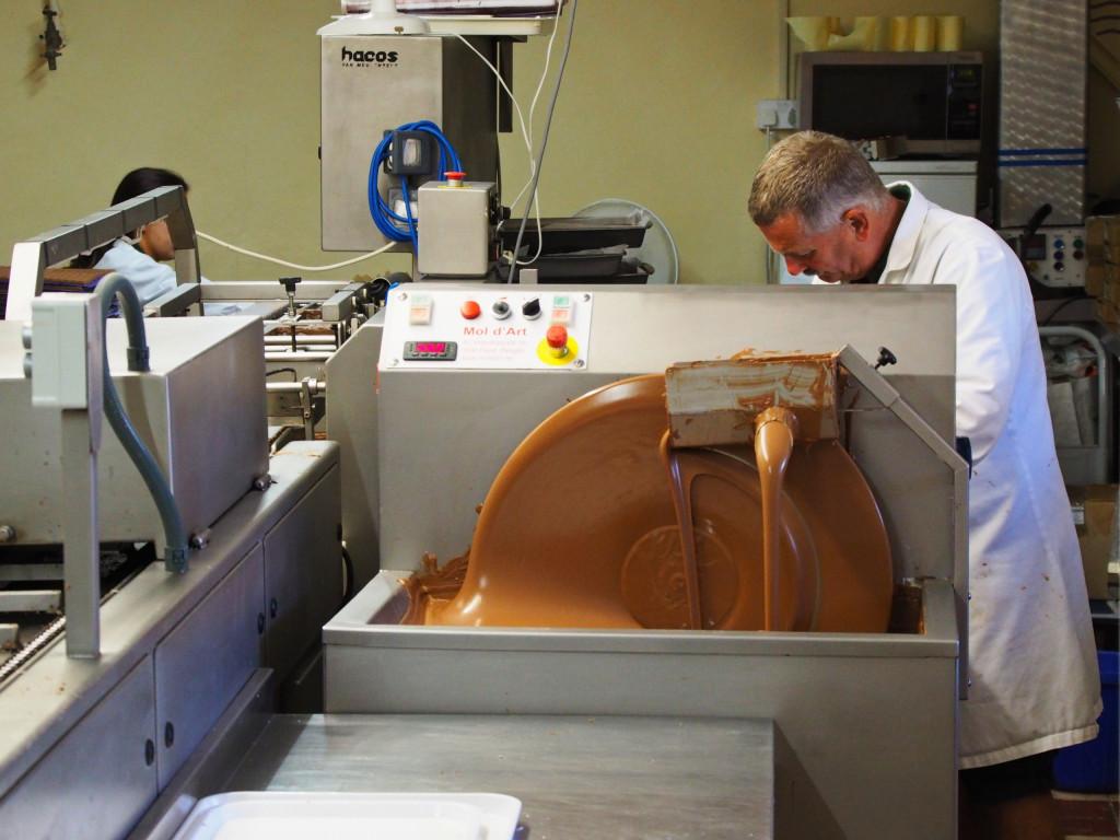 Schokoladen-Manufaktur in Caldey