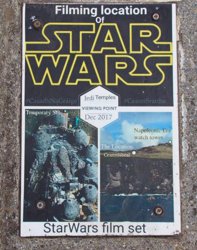 """Info-Tafel zum Star Wars Film """"The Last Jedi"""""""