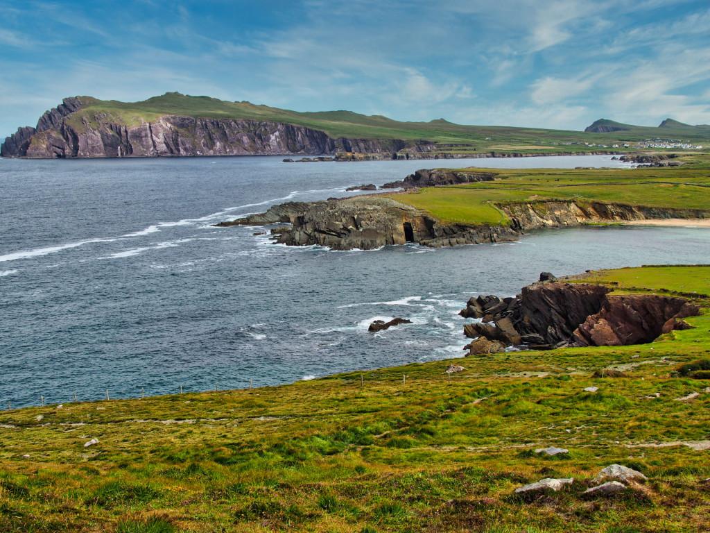 Blick auf die Halbinsel Ceann Sraithe, einem Seevögel-Schutzgebiet