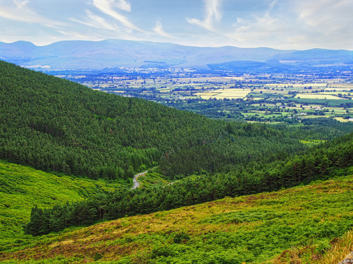 Blick von den Knockmeldown Mountains