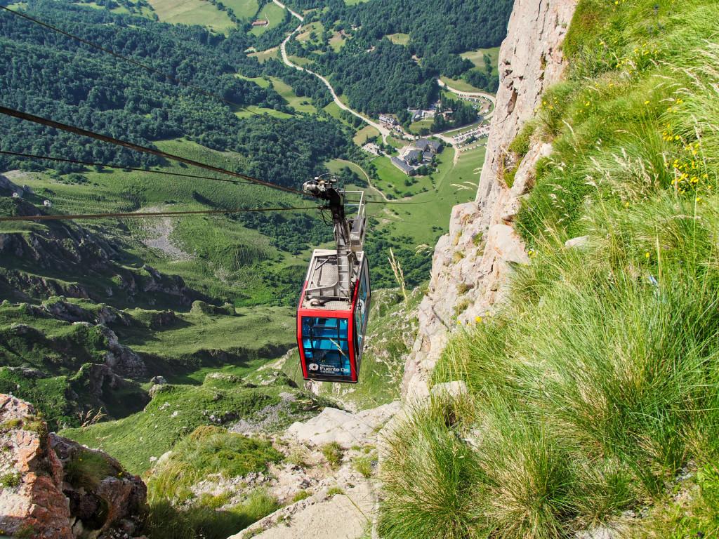 Blick von der Bergstation der Teleferico Fuente Dé