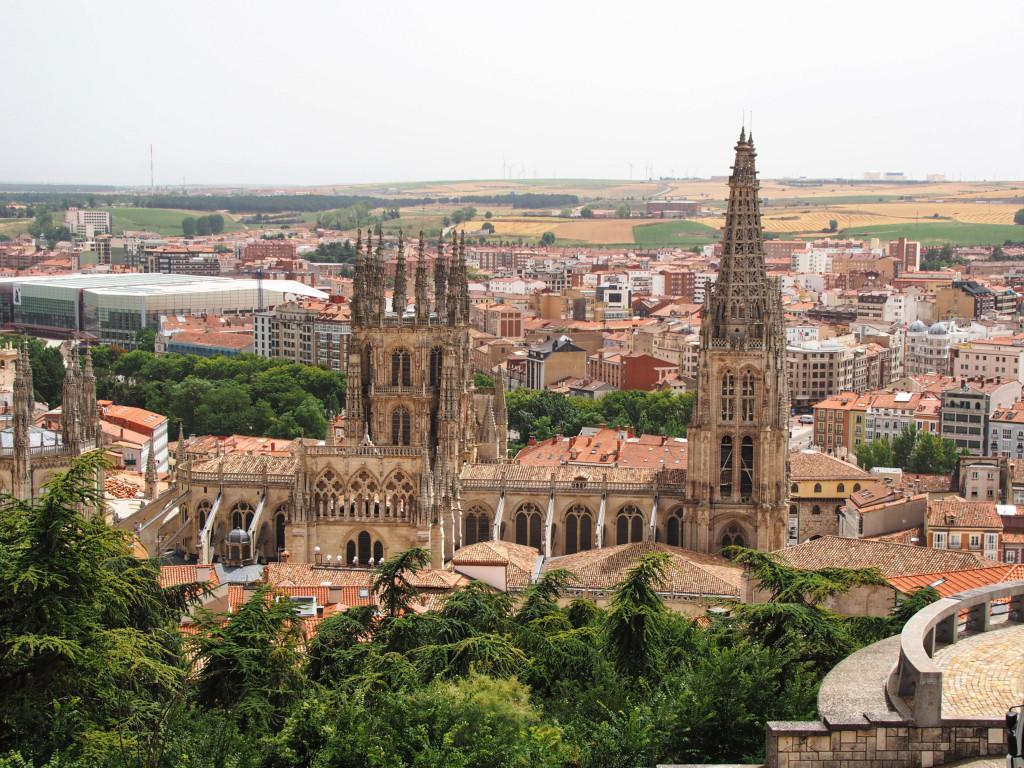 Aussicht von der Burg auf die Kathedrale