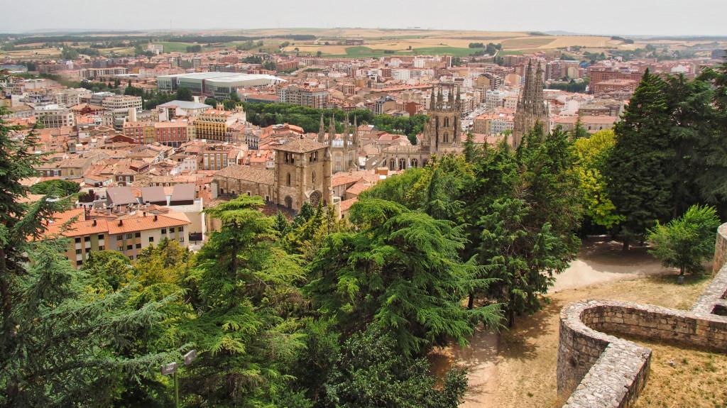 Aussicht von der Burg auf Burgos