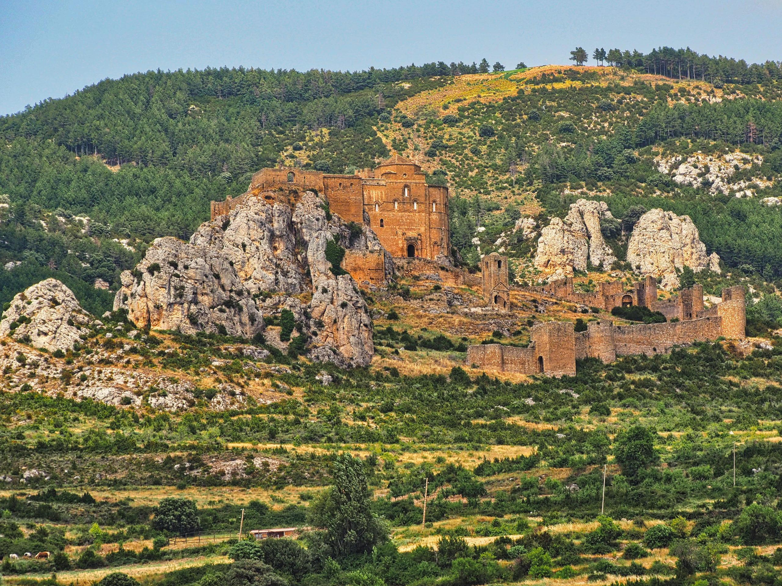 Castillo de Loarre, gilt als eine der schönsten Burgen ganz Spaniens