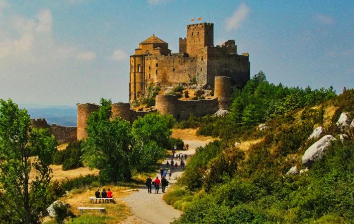 Aussicht oberhalb des Castillo de Loarre