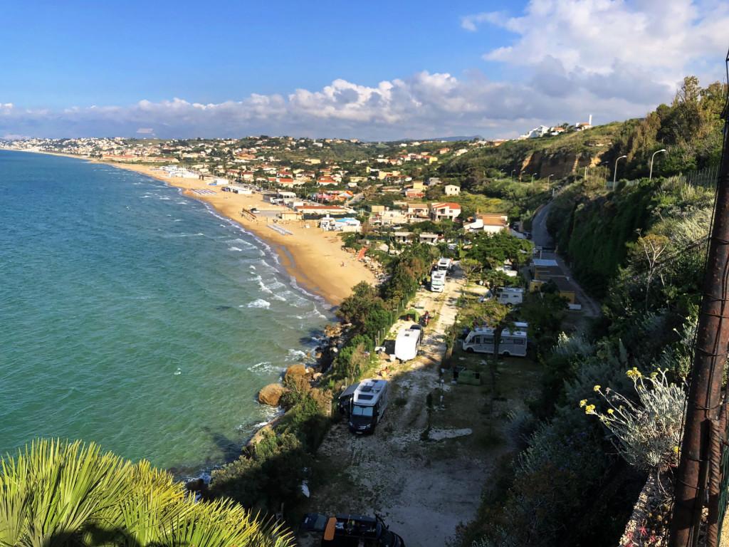 Aussicht auf unseren CP in Castellammare del Golfo