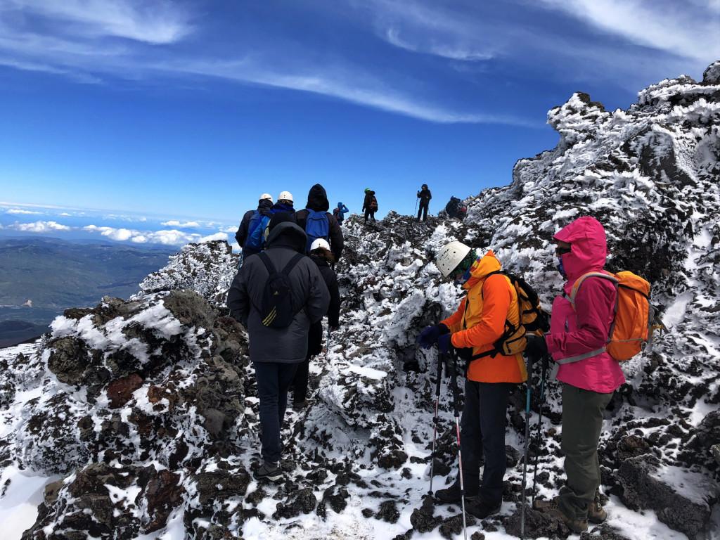 Eisige Temperaturen am Etna