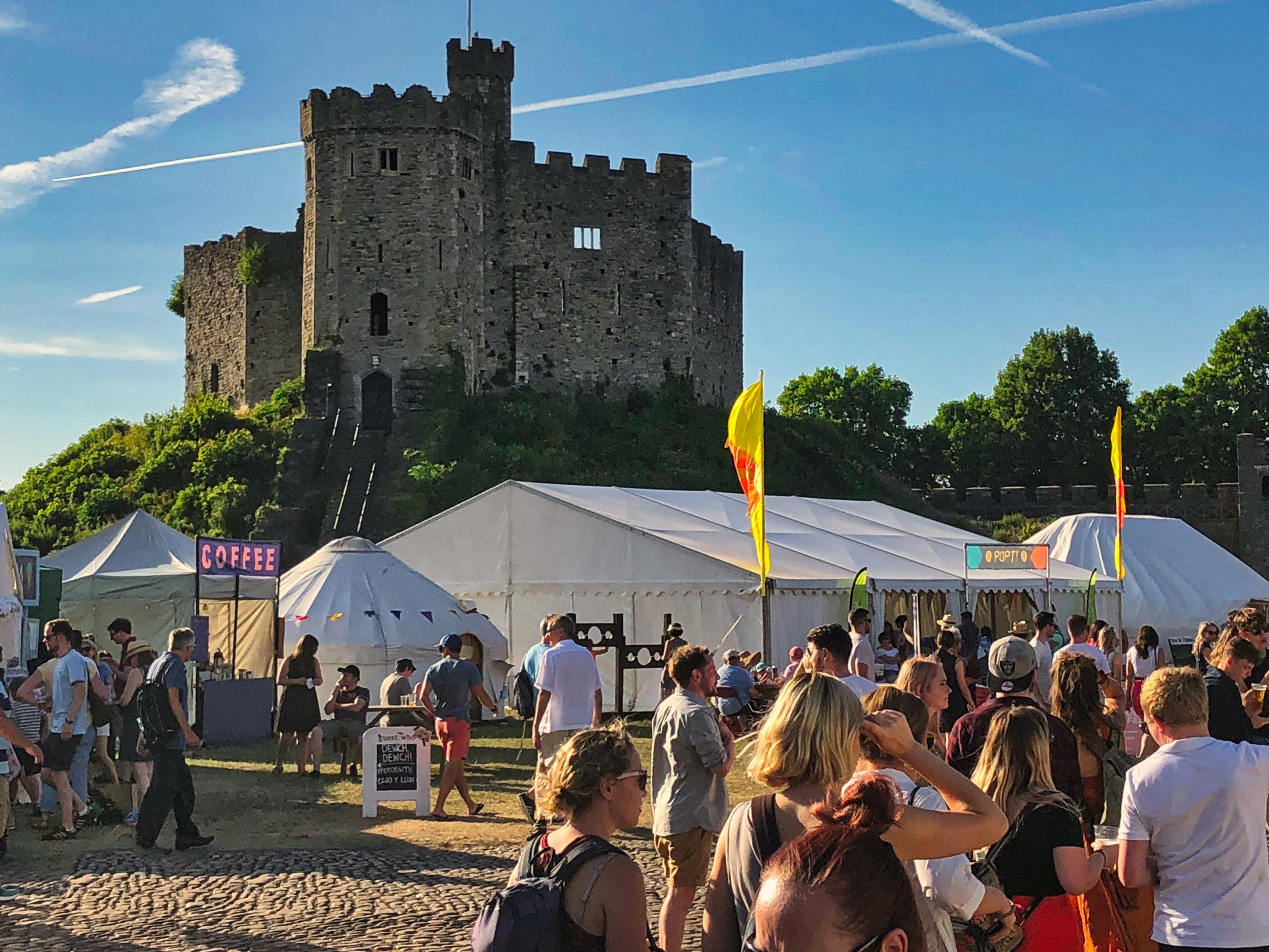 Fest auf dem Cardiff Castle