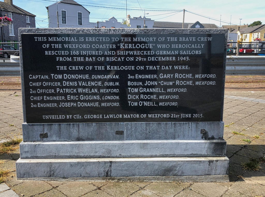 """Memorial of the """"Kerlogue"""" in Wexford"""