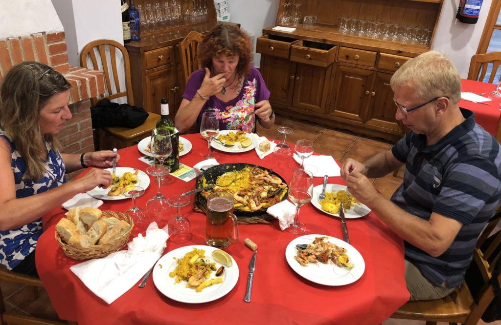 Paella auf dem CP in Burgos
