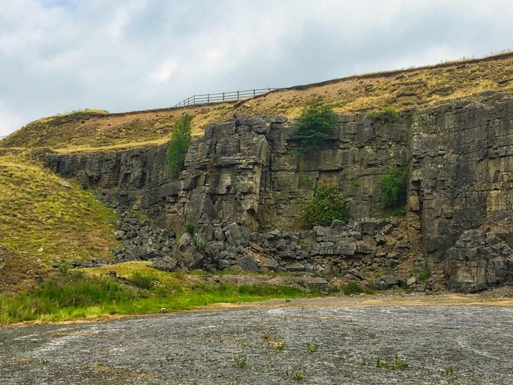 Gesteinsformation in den North Pennines