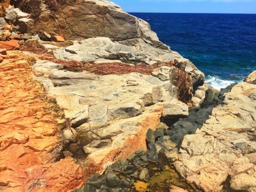 Geologische Formation am Red Rocks von Arbatax