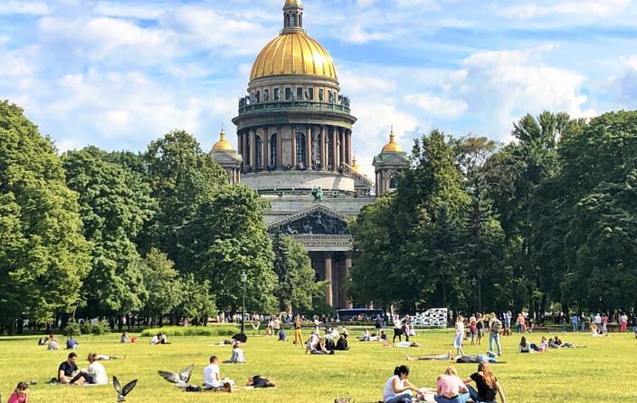 Isaaks-Kathedrale, die größte Kirche Sankt Petersburgs und einer der größten sakralen Kuppelbauten der Welt