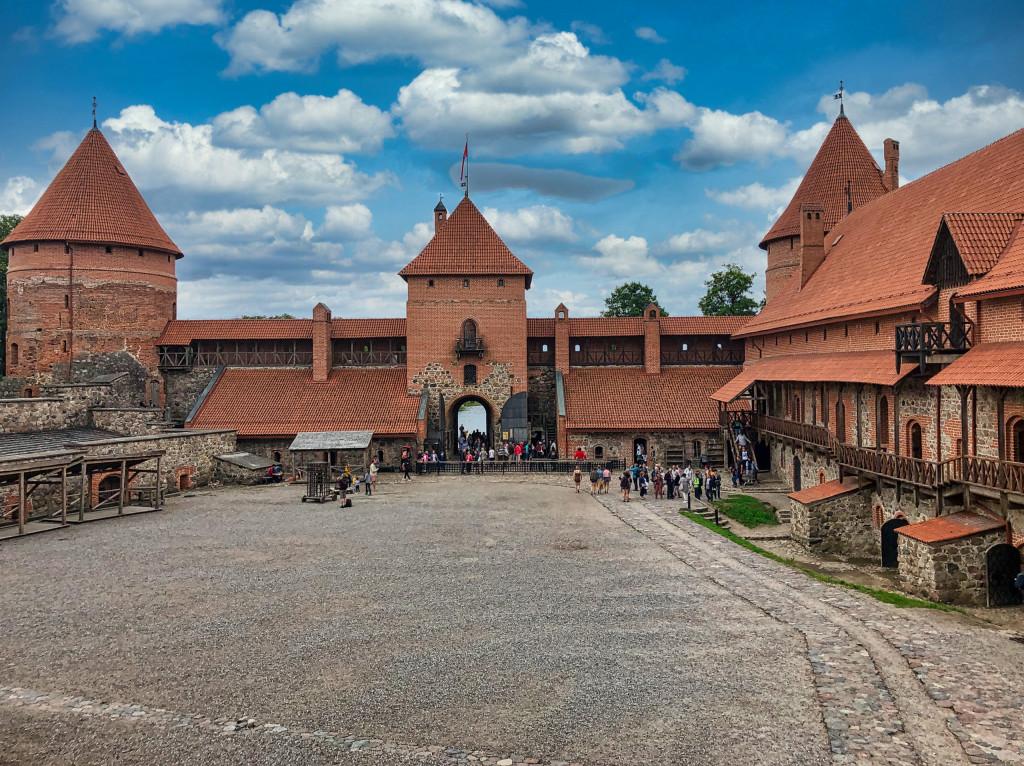 Vorhof der Burg Trakai