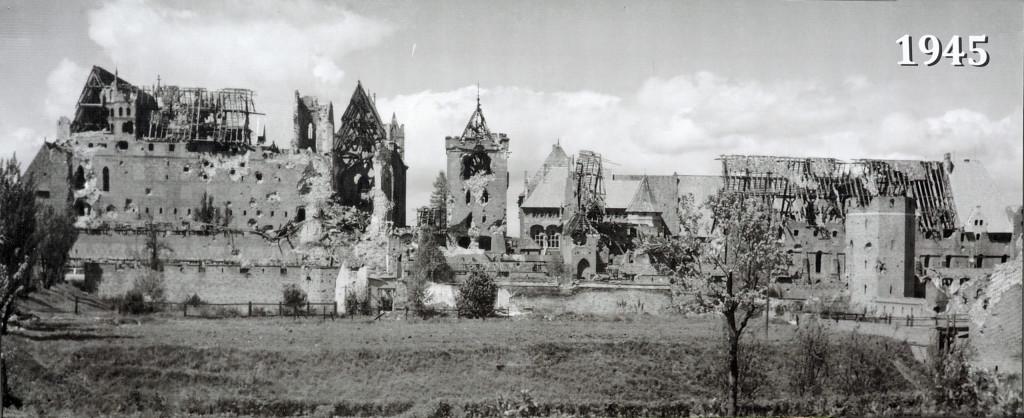 Zerstörung der Marienburg 1945
