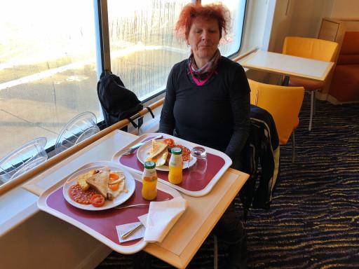 """""""Full English Breakfast"""" auf der Fähre nach Portsmouth"""