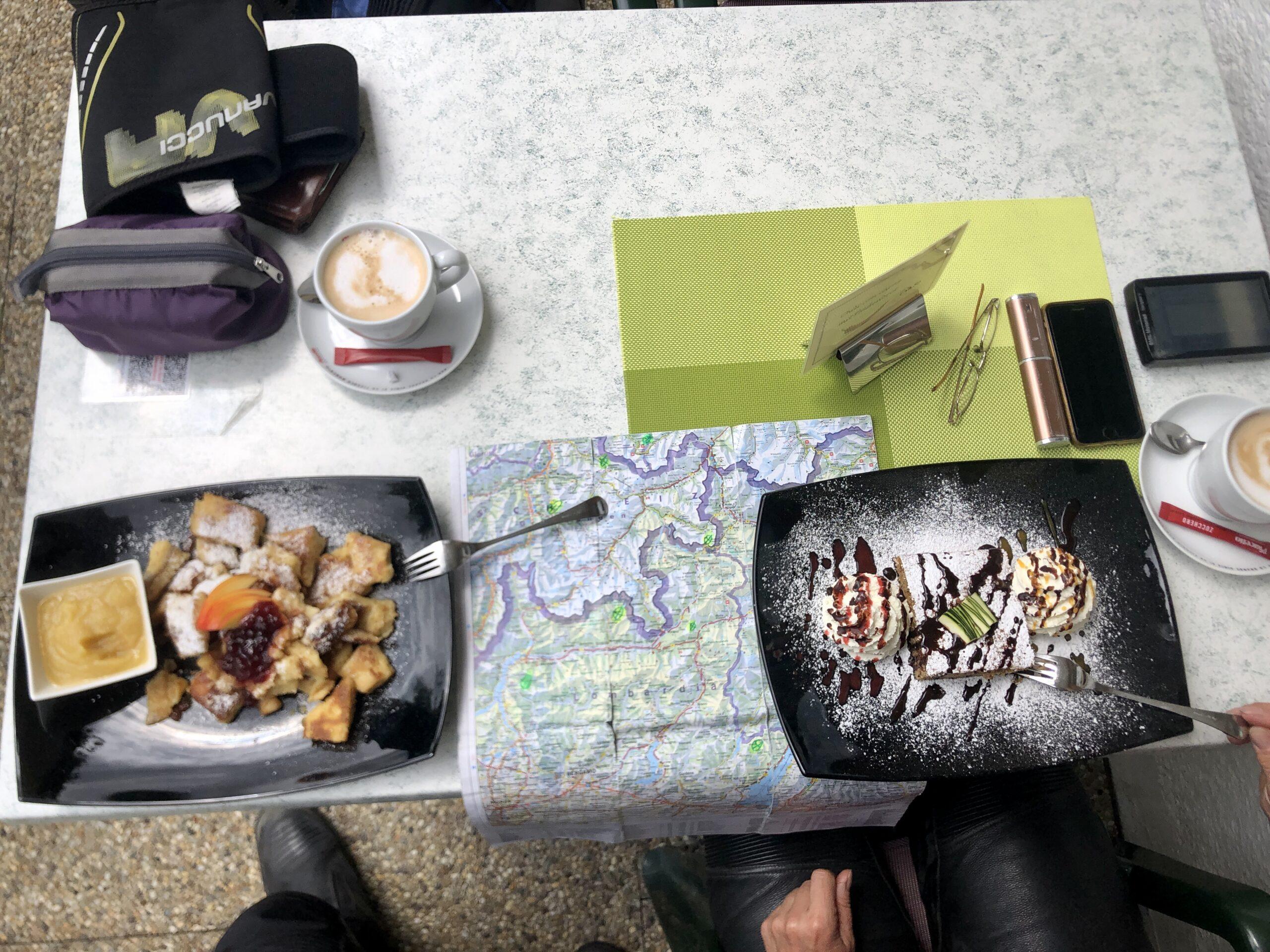Kaiserschmarren und Zucchini-Kuchen in Warth
