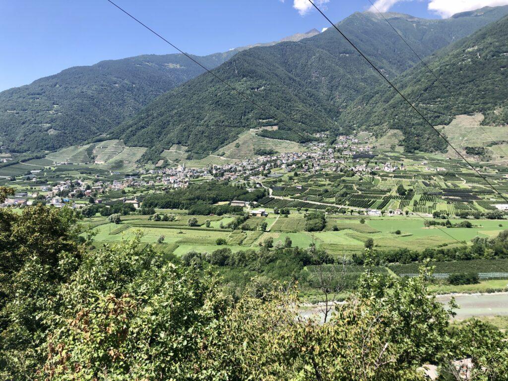 Sicht auf Villa di Tirano