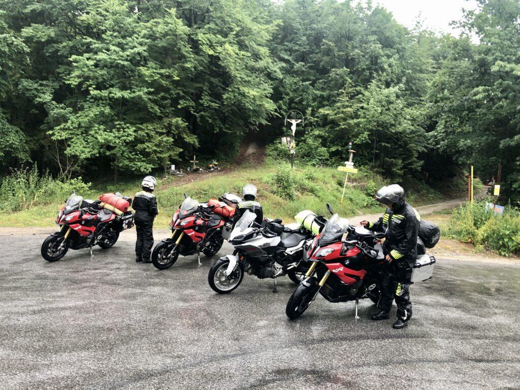 Regen am Malý Šturec-Pass