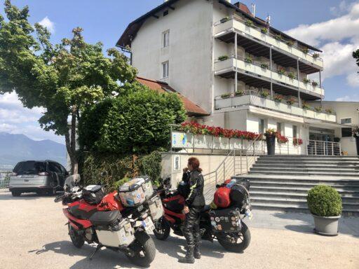 Unser Ziel, Hotel Bellevue, nahe Kranj