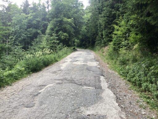 Zufahrt zum Pass Martinské hole