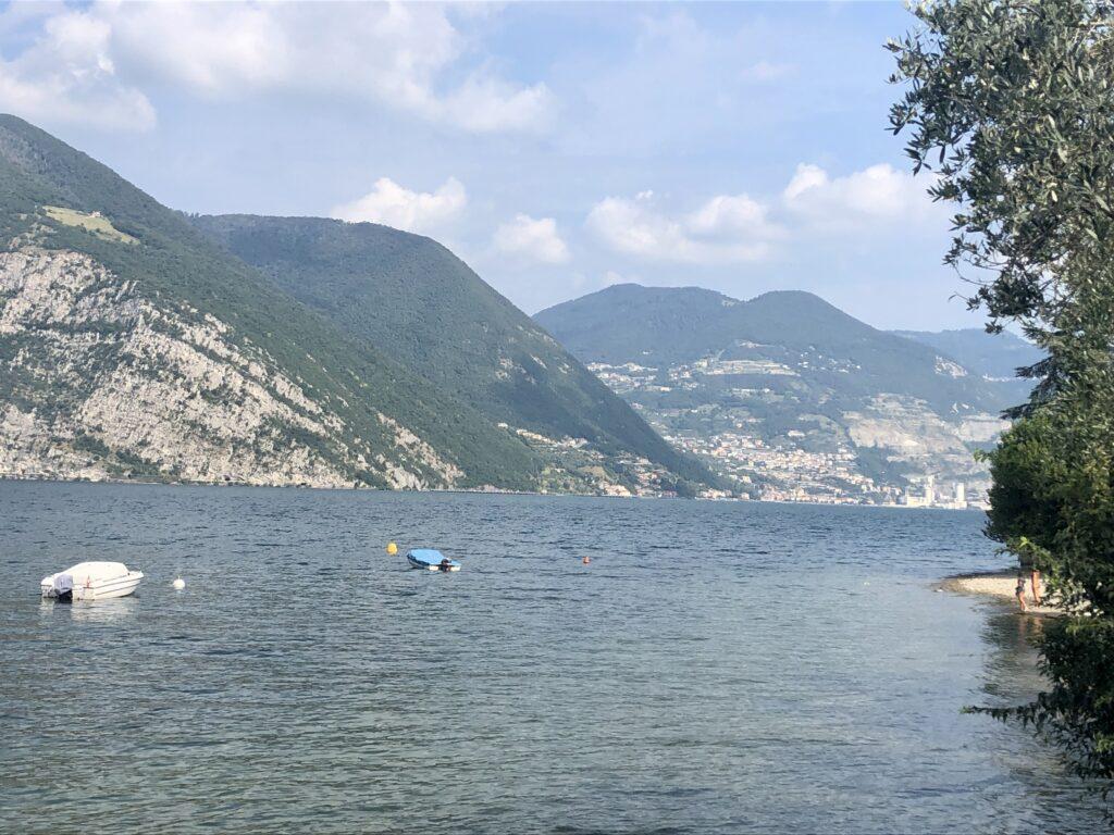 Blick über den Lago d' Iseo