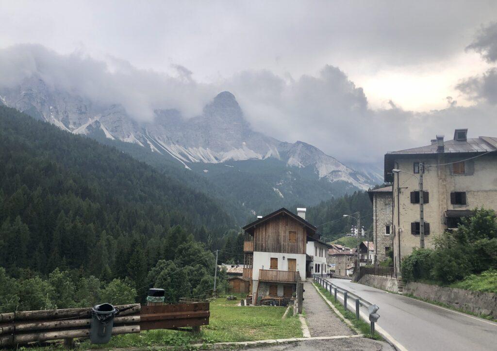 Wetter zieht auf auf dem weg nach Cortina