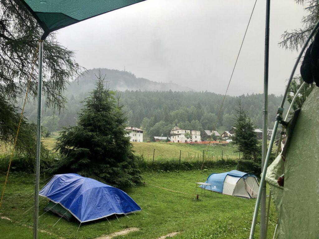 Gewitter am CP in Cortina