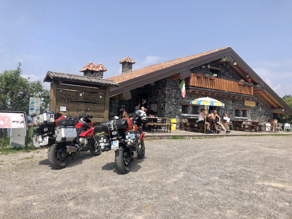 Unsere Zielhütte am Monte Stino