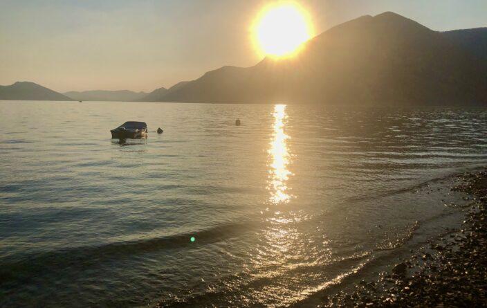 Abendstimmung am Lago d' Iseo