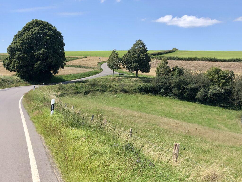 Landschaft hinter Kautenbach auf der 331