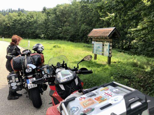 Pause im Elsass am Lauf der La Bruche