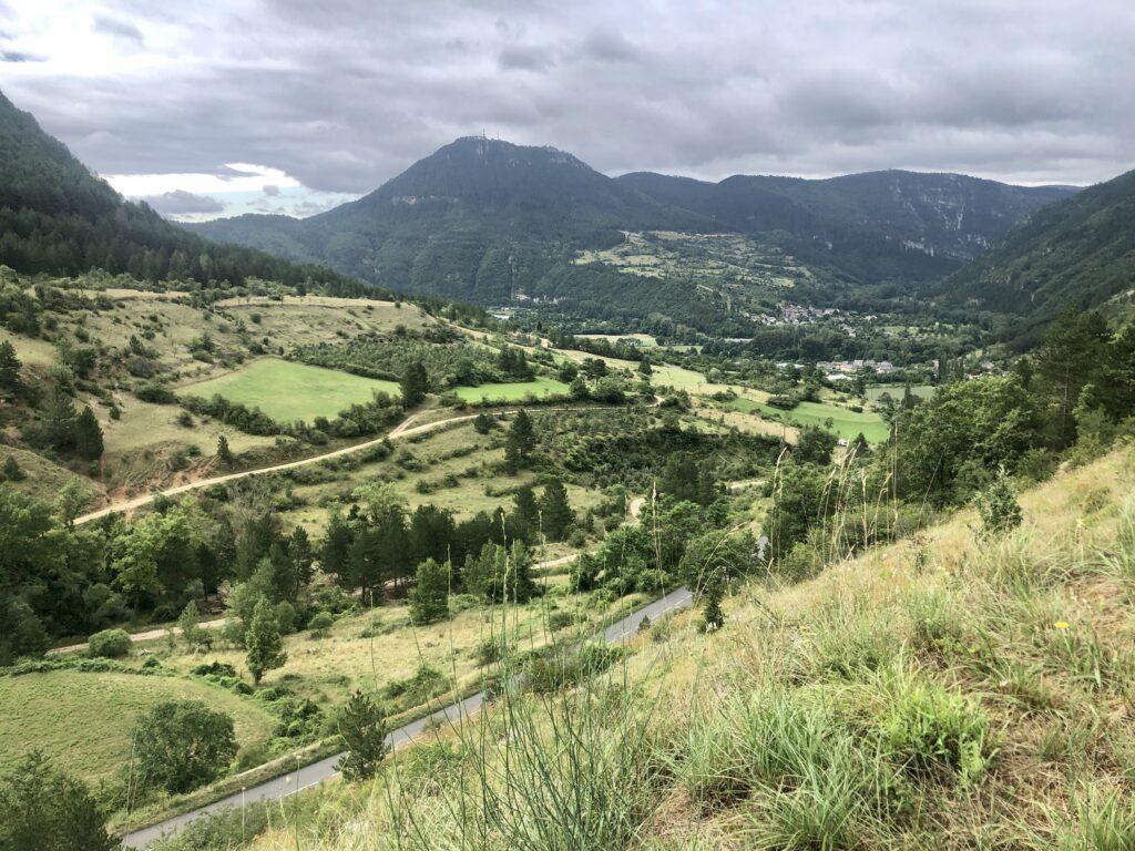 Aussicht auf Ispagnac am Tarn